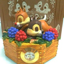 Disney Store Japan Chip and Dale Berry Figure table clock Desk clock orn... - $94.05