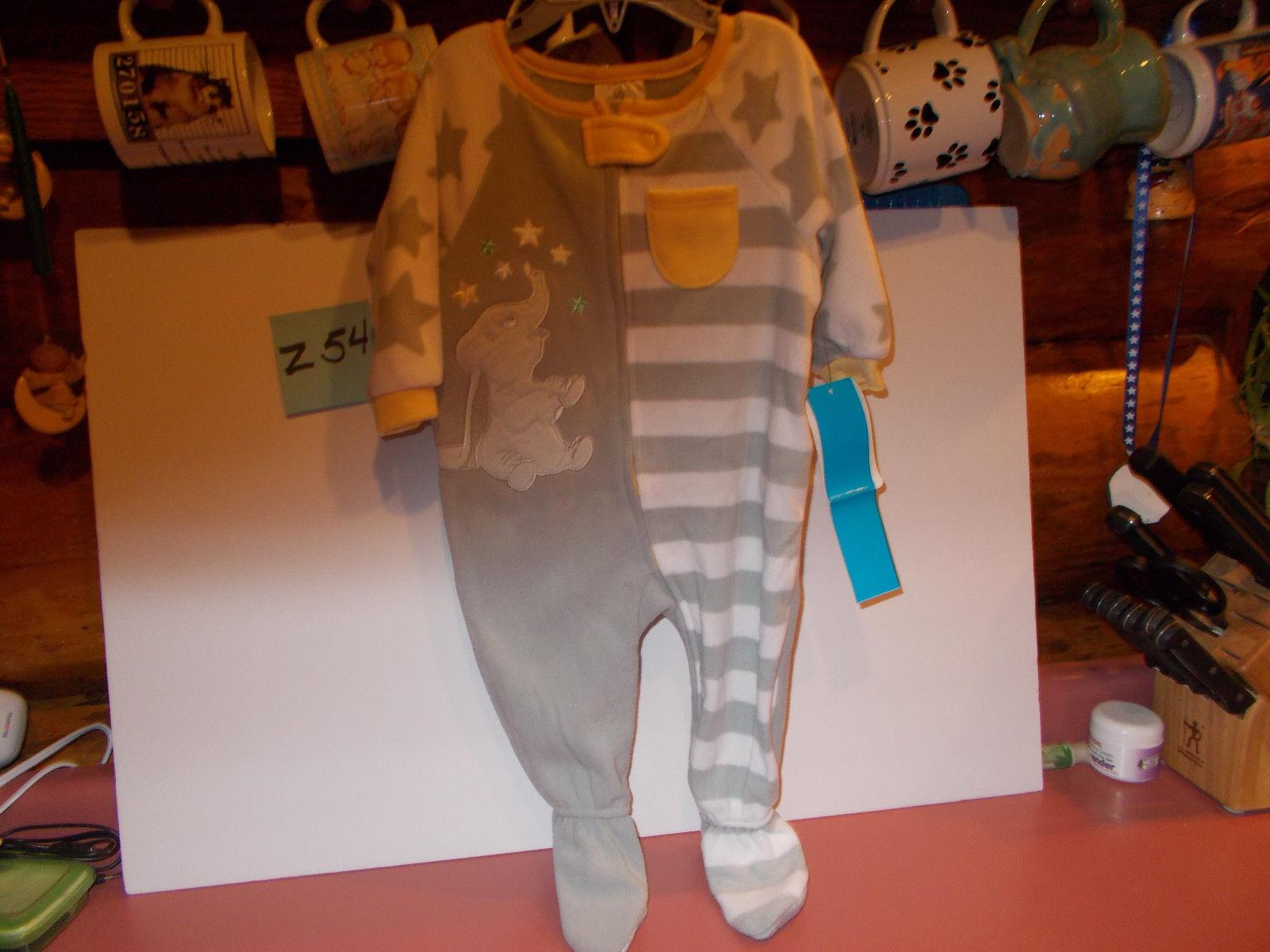 Disney Store Dumbo Blanket Sleeper for Baby Gray 9-12 month