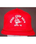 Vtg ATHOL COOP ASS'N Hat-Expo '92-Red-Rope Bill-Snapback-Elevator-Kansas... - $24.30