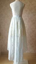LIGHT BLUE High Low Lace Dress Sleeveless SomethingBlue Wedding Bridesmaid Dress image 7