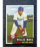 1953 Topps Baseball #244 Willie Mays [New York Giants] Reprint - $3.25