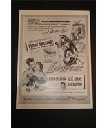SUPER RARE 1955 THE LOOTERS PROMO MOVIE AD JULIE ADAMS RORY CALHOUN RAY ... - $19.26