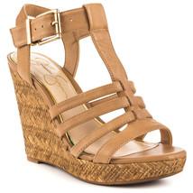 Jessica Simpson Jenaa Platform Wedge Sandals, Multip Sizes Buff Ruby Tu JS-JENNA - $69.95