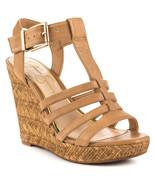 Jessica Simpson Jenaa Platform Wedge Sandals, Multip Sizes Buff Ruby Tu ... - $69.95