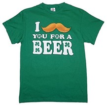 "DELTA PRO WEIGHT I ""MUST-ASK"" YOU FOR A BEER! MEN'S XL GREEN COTTON T-SH... - $10.97"