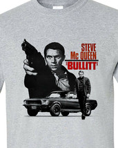 Bullitt Steve McQueen Long Sleeve T-shirt 1960s car movie ford Mustang gray image 2