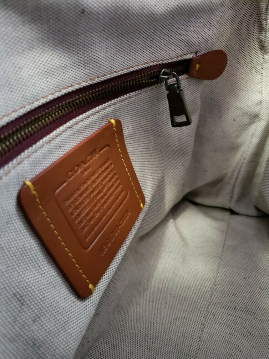 NWT COACH Glovetanned Leather Rogue Luxury Bag Crossbody Steel Melon Pink 38124