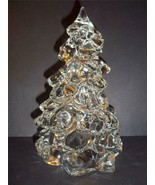 """Mosser Glass CLEAR CRYSTAL LARGE 8"""" CHRISTMAS TREE Figurine Decoration New! - $41.66"""