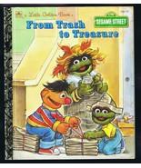 ORIGINAL Vintage 1993 Sesame Street Trash to Treasure Oscar Grouch Golde... - $9.49