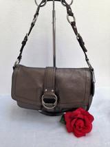 RARE COACH Chelsea Field Bag in Metallic Leather (Gunmetal) - Style 1090... - $39.59