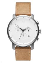 MVMT 45mm Chrono White Caramel Tan Leather Band Watch Model MC01WT - $139.95