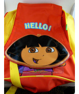 "Dora Back Pack Red & Yellow 11""x 14"" Excellent Condition - $13.85"