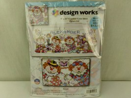 """Design Works Counted Cross Stitch Kit CIRCUS TIME Clowns 9"""" x 21"""" - $10.40"""