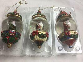 Kirkland Signature Waterglobe Ornaments Lot of 3 Christmas Tree Santa Drummer image 5