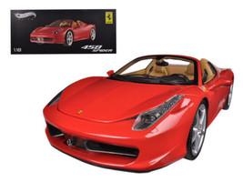 Hot Wheels Elite 1/18 Scale Ferrari 458 Spider Red/Brown Diecast Mini Ca... - $319.99