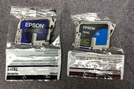 Epson Yellow AND Cyan Ink Cartridges T0324 & T0342 - $10.84