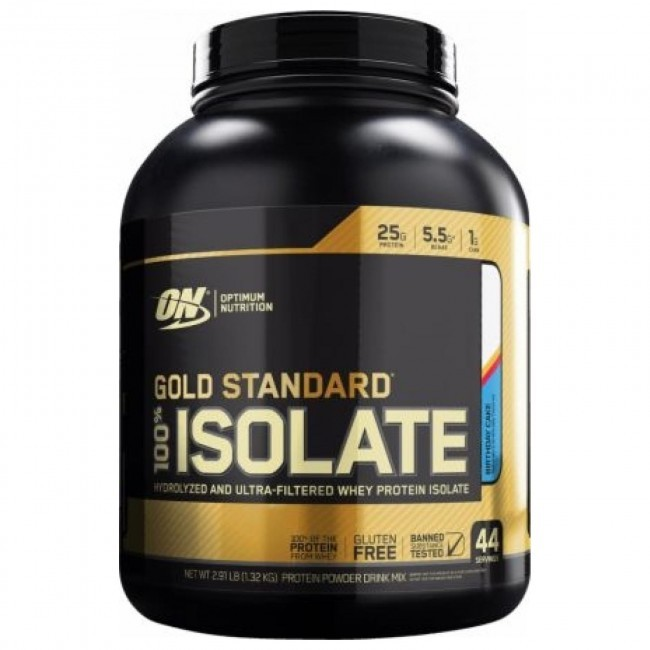 Primary image for Optimum Nutrition ON GOLD STANDARD 100% ISOLATE (Birthday Cake) 44 servings 2.91