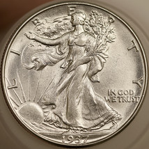 1937 D Walking Liberty Half Dollar - Gem BU / MS / UNC - $220.00