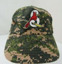 Springfield Cardinals Camouflage Green Adjustable Adult Ball Cap Hat - $12.86