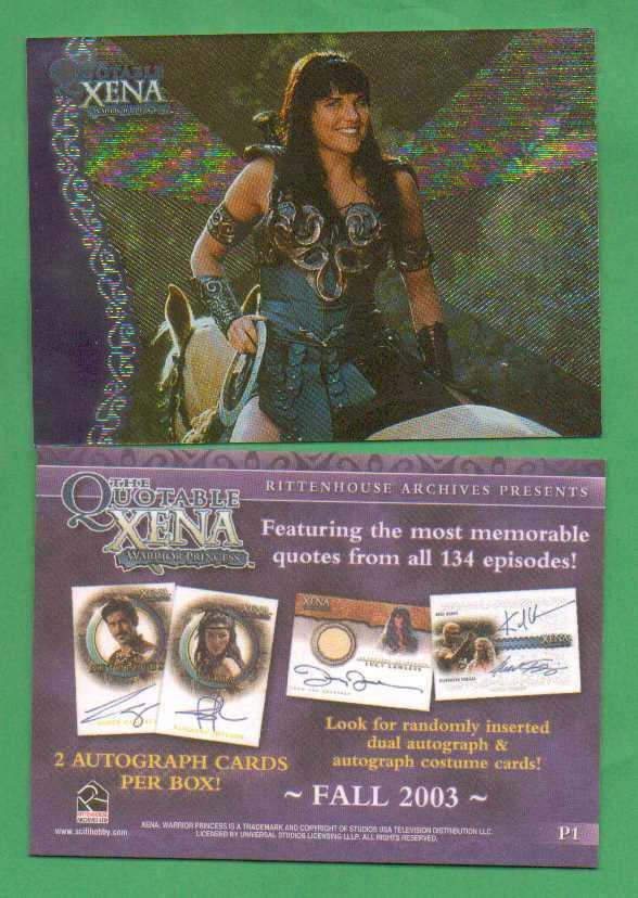 2003 Xena Promo - $2.00