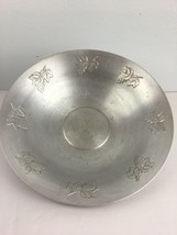 Vintage West Bend Aluminum Co Serving Fruit Bowl Embossed Grapes Made in... - $14.84