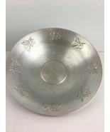 Vintage West Bend Aluminum Co Serving Fruit Bowl Embossed Grapes Made in... - $19.79