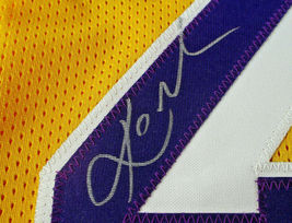 KOBE BRYANT / LOS ANGELES LAKERS / AUTOGRAPHED LAKERS YELLOW CUSTOM JERSEY / COA image 5