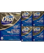 40 Bars Dial For Men Fresh Reaction, Sub Zero Glycerin Bar Soap-Lot of 5... - $57.39