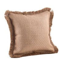 Fennco Styles Classic Striped Jute Fringed Design Throw Pillow - 6 Style... - $47.51
