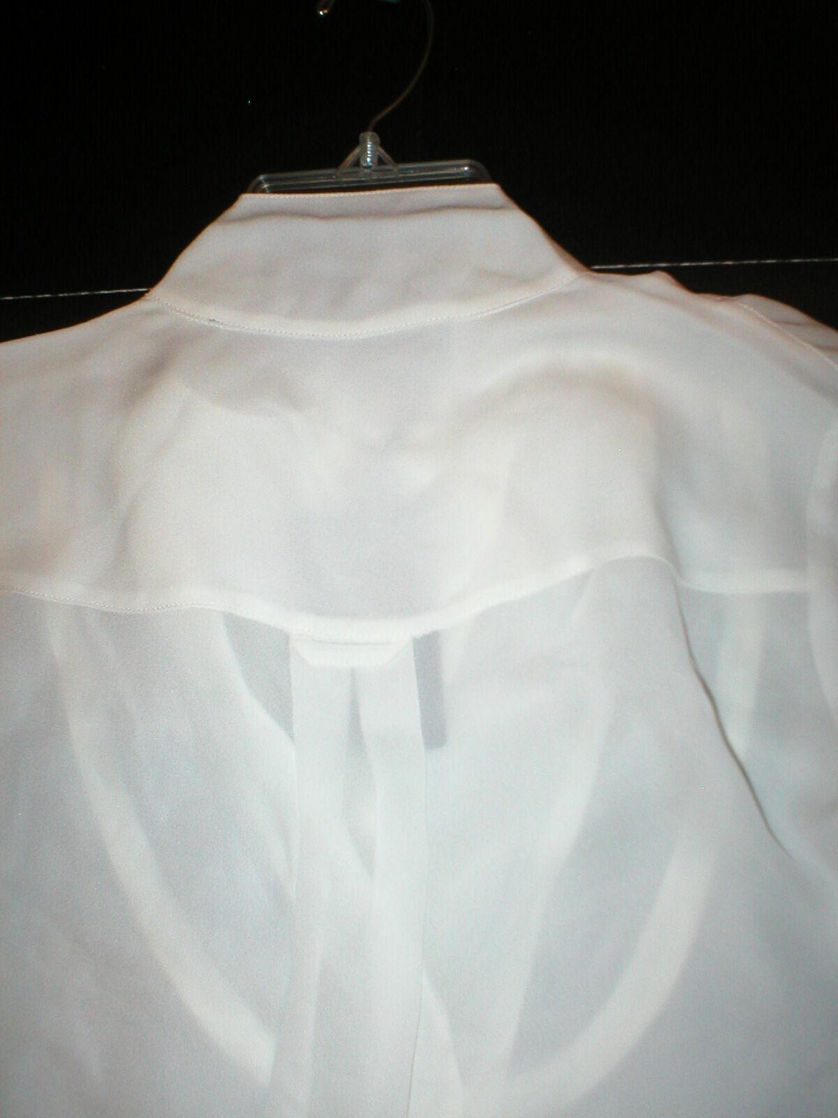 NWT LAMB New Ivory White Long Sleeve Silk Top Blouse 2 Womens Designer Office