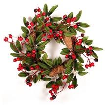 40cm Christmas Wreath Door Decoration Artificial Foam Berry Wreath With ... - $14.24