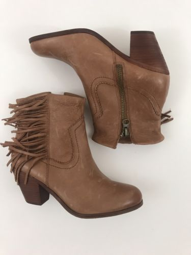 dd49d88a7 Sam Edelman Louie Tan Leather Fringe Zip Up and 29 similar items. 12