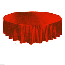 RED-Gothic Damask Brocade ROUND TABLE CLOTH TOPPER Holiday Party Decorat... - $6.90