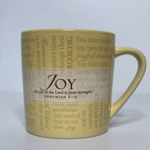 Lighthouse Christian Products Co JOY Coffee Mug Nehemiah 8:10 Made in China - $14.80
