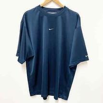 Nike Men's L Blue Heather Knit Running Dri Fit Crew Neck Shirt Top - £13.39 GBP