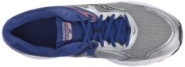 Saucony Uomo Argento Blu Griglia Cohesion 10 Corsa Runners Scarpe Sneaker Nib image 5