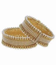 Wholesale Lot of 5 Indian Bollywood Jewelry Gold Plated Pearls Bracelets... - $55.94