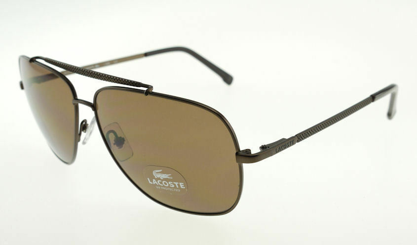 Primary image for LACOSTE Brown / Brown Aviator Sunglasses L132S 210