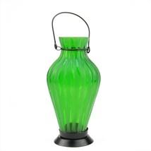 "Northlight 9.5"" Frosted Green Vase Glass Bottle Tea Light Candle Lantern... - $16.57"