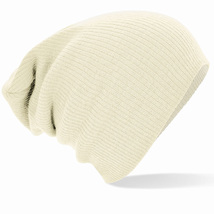 Beechfield Slouch Beanie White One Size - $10.95