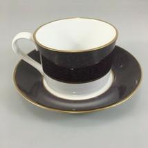 Spode Sutton Aubergine Purple Cup & Saucer Set Fine Bone China  - $35.77