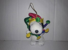 SNOOPY Jester Plush Christmas Ornament Kurt Adler Peanuts Charlie Brown - $9.49