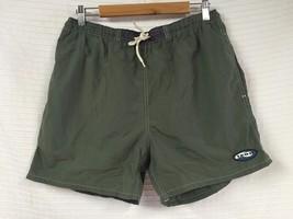 Men's IZOD Green lined Swim Trunks Shorts Drawstring Waist Size Medium N... - $16.04