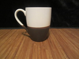 2008 Starbucks Coffee Mug Tea Cup Glass Half Full Brown - White 12 oz Bi... - $14.99
