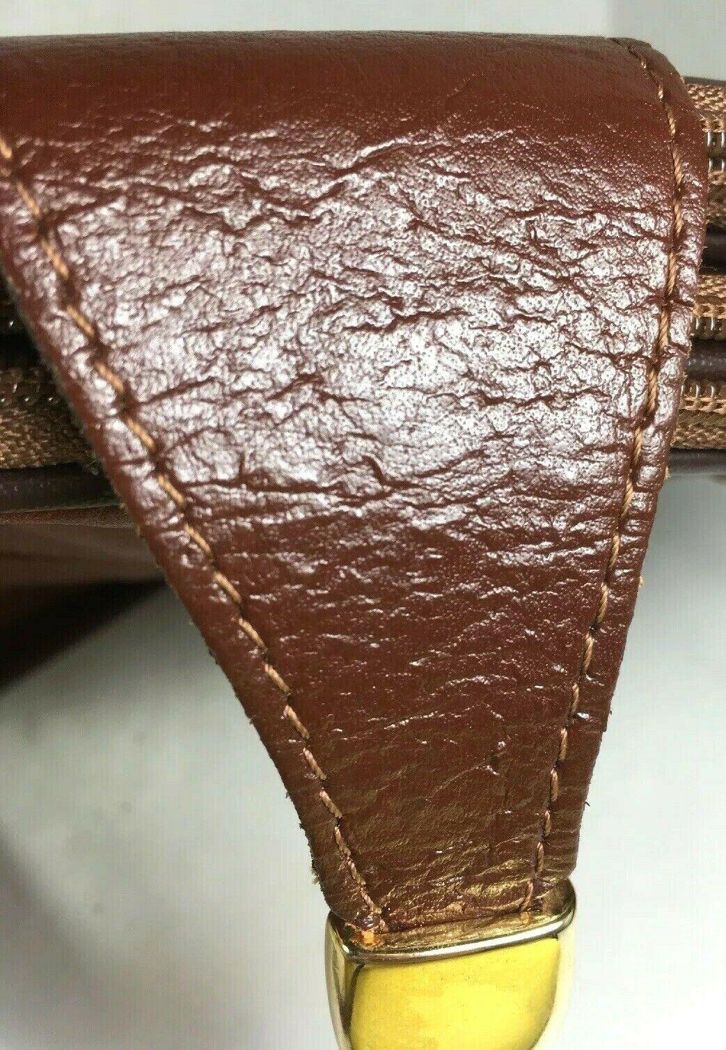 Valentino di paolo Vintage Small Brown Leather Multi Compartment Crossbody Bag