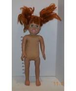"FCM 1996 Vinyl/Cloth 18"" Vintage Doll Red Head Hair Green eyes - $14.03"