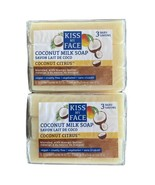 2 - Kiss My Face 3 Pack Coconut Milk Soap Bar with Mango Butter Vegan - New - $12.84