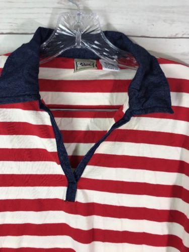 Cruel Girl Long Sleeve Top Sz Large Red White & Blue Stretch