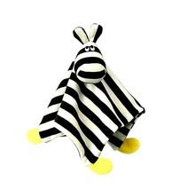 ZEBRA IKEA KLAPPA Baby Lovie Comfort Blanket 11x11 Lovey Nursery Black & White  - $16.82