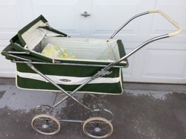 Vtg Green Baby Infant Buggy stroller carriage - $116.09